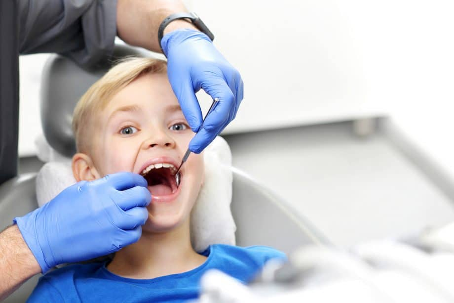 Child in dentist chair